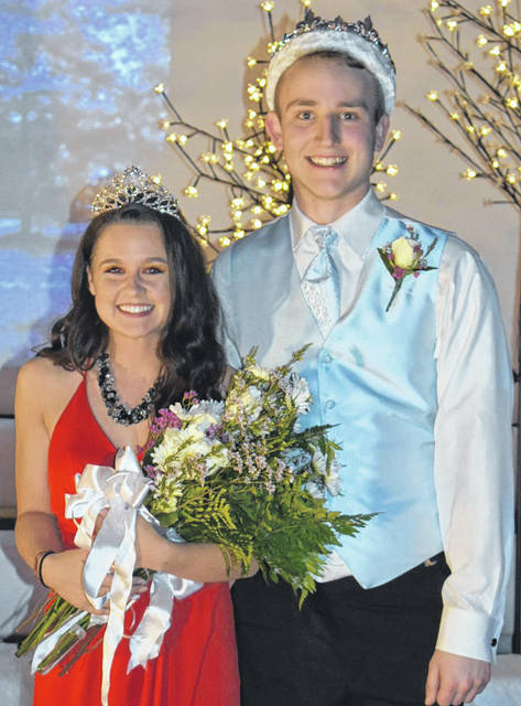 Noel Spillers, daughter of Mindy Spillers and James Lloyd, and Troy Oltman, son of Curtis and Maureen Oltman, were crowned queen and king of the Sidney High School prom, Saturday, April 28.