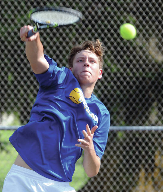 Lehman Catholic's Griffin West won the Division II sectional singles title Saturday.