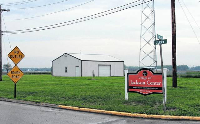 Future building location for the new Jackson Center electrical substation that will be constructed north of Jerry Drive along state Route 65. The village recently purchased a portion of this lot owned by NK Telco Inc. of New Knoxville who will relocate the building pictured here. Construction is expected to begin sometime in July and be finished by April 1, 2019.