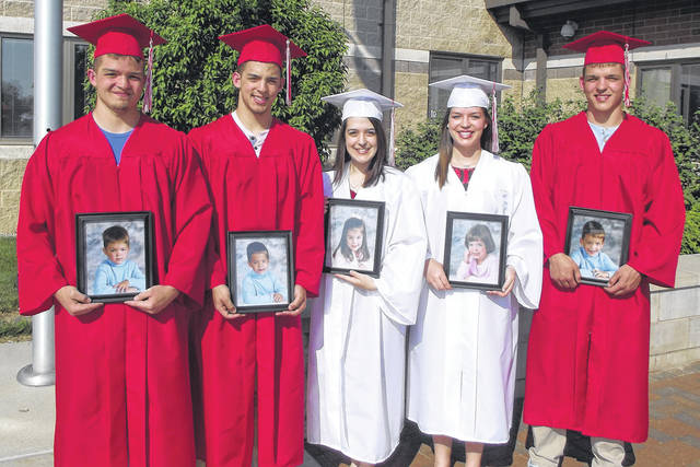 The DiLullo quintuplets, left to right in birth order, Daniel, John, Angelina, Lauren and James, 18, will graduate from Houston High School Sunday. All five are continuing their education at various colleges.