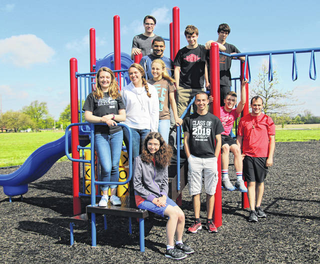 Members of the Christian Academy Schools Class of 2018 are, top row, left to right, Josten Carpenter, Lamar Abbott, Ben Young and Joshua Ledford. Middle row, Hannah Michael, Alexis Boersma and Katie Smitely. Front row, Charlene Pepiot, Jacob Balta, Noah Joines and Michael Toal.