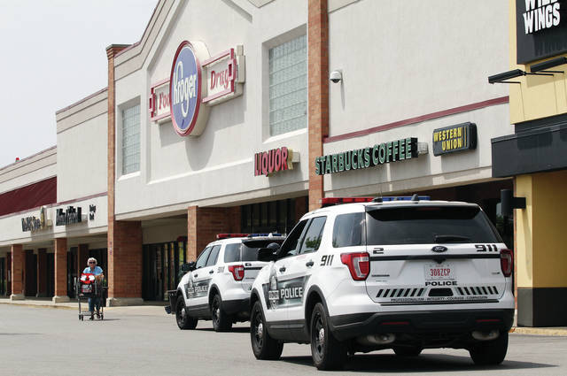Sidney Police respond to Kroger at 2100 Michigan Street where a man jumped over the pharmacy counter and grabbed bottles of controlled narcotics around 2 p.m. Thursday, May 17. According to Sidney Police, two black male subjects then fled the store, and drove off in a gray colored, four-door, mid-sized vehicle headed toward Interstate 75.
