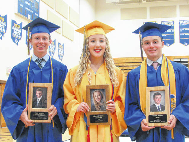 Ryan Goettemoeller, Melanie Brunner and Tyler Lachey were elected into the Lehman Catholic High School Academic Hall of Fame.