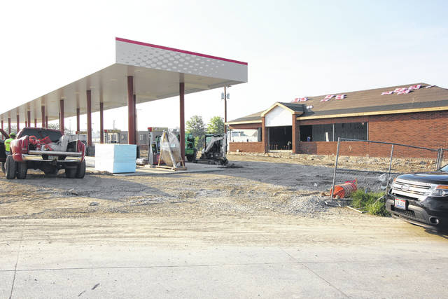 Construction on the new Speedway gas station and cafe on Michigan Street is continuing. The anticipated turnover date from contractor to Speedway is July 30 with an opening date the beginning part of August.