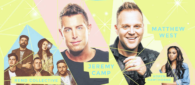 Rend Collective, Jeremy Camp, Matthew West and Koryn Hawthorne will bring the Summer Lights Tour to Only Believe Ministries in Botkins on July 21.