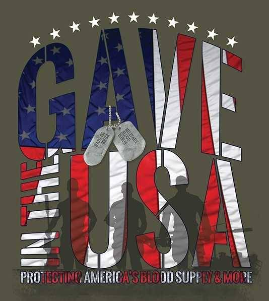 """CBC """"Gave in the USA"""" T-shirt design."""