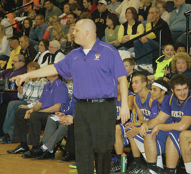 Darrell Wacker/AIM Media file Pat Carlisle, seen here coaching the Butler Aviators, has been named the new head coach of the Lehman boys basketball team.
