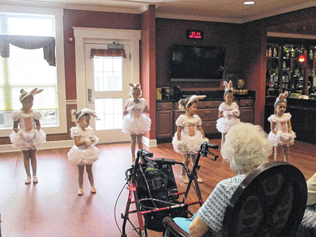 Dancers of the New Bremen Dance School entertain residents of Elmwood Assisted Living in New Bremen recently.
