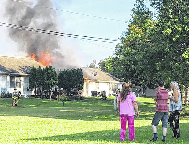 Sidney Fire responded to a house fire in the 1100 block of Westwood Sunday morning. In addition to Sidney Fire, Lockington Fire was dispatched to the fire.