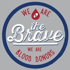 "CBC ""We Are the Brave – We Are Blood Donors"" t-shirt design."