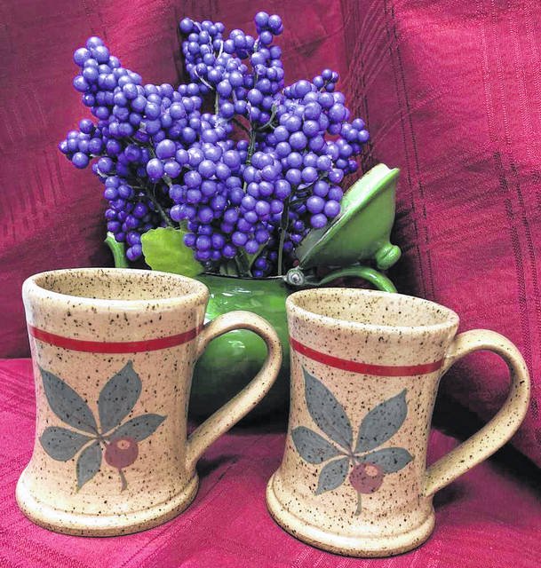 The first 125 people to sign up for a newspaper subscription, or to renew a current subscription, at the Sidney Daily News booth at the Shelby County Fair will receive a Buckeye Leaf pottery mug, commissioned from Artistic Earth Pottery, of Troy, owned by Mark and Amy McGraw.