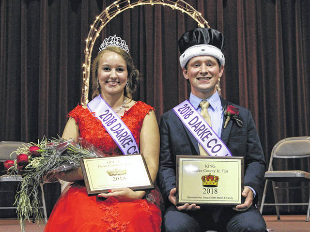 Morgan Heitkamp and Kyle Wuebker have been named 2018 Junior Fair Queen and King for this year's Great Darke County Fair.
