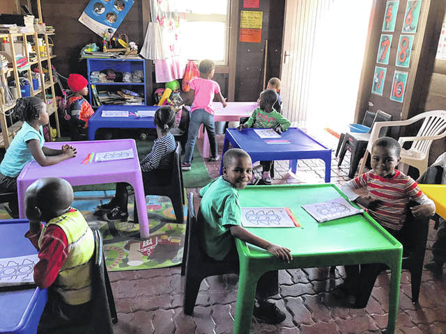 Children enjoy school in Walvis Bay, Namibia.