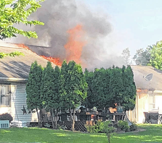 Sidney, Lockington and Anna fire departments fight a house fire in the 1100 block of Westwood, Sunday morning, July 29. The fire has been ruled accidental.