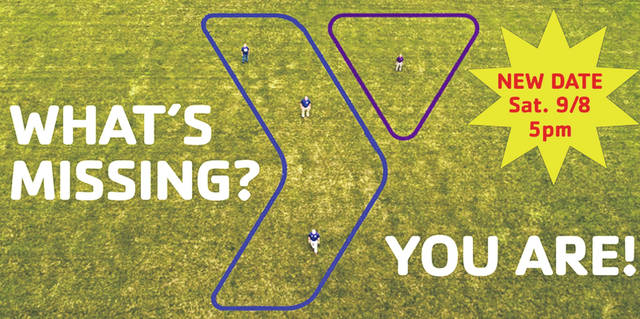 The aerial photograph for the YMCA logo has been rescheduled for Saturday, Sept. 8, at 5 p.m.
