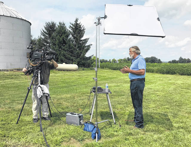 "Shelby County farmer Christopher Gibbs, of Maplewood, made an appearance, remotely from his Maplewood farm, on a live segment of CNBC's ""Power Lunch"" program Friday, Aug. 10. Gibbs was interviewed by correspondent Contessa Brewer regarding his thoughts on the recent ""trade wars"" between the United States and China, and what effect newly implemented tariffs have had on the farming industry."