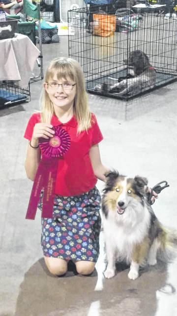 Lindsey Thornhill, 11, daughter of Ron and Carin Thornhill, of Anna, with her dog, Daisy. Lindsey and Daisy received second place in Beginner Novice B category at the 2018 Ohio State Junior Fair Dog Show.