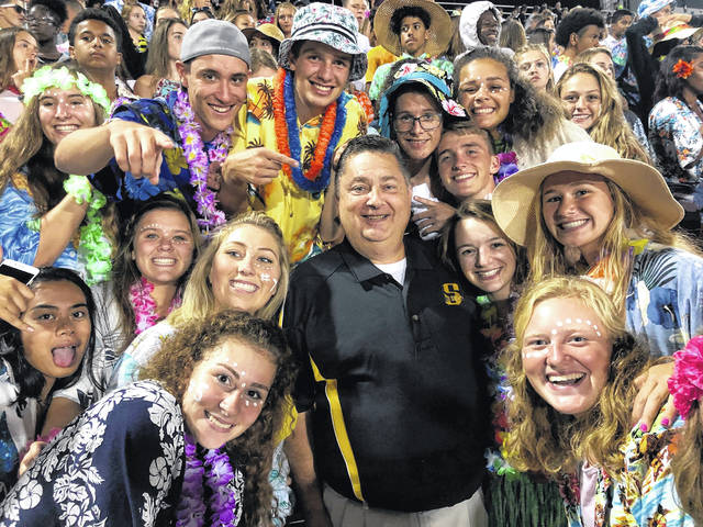 Sidney City Schools Superintendent Bob Humble is officially a Yellow Jacket. Humble joined the Jacket Pack members during Thursday night's football game.