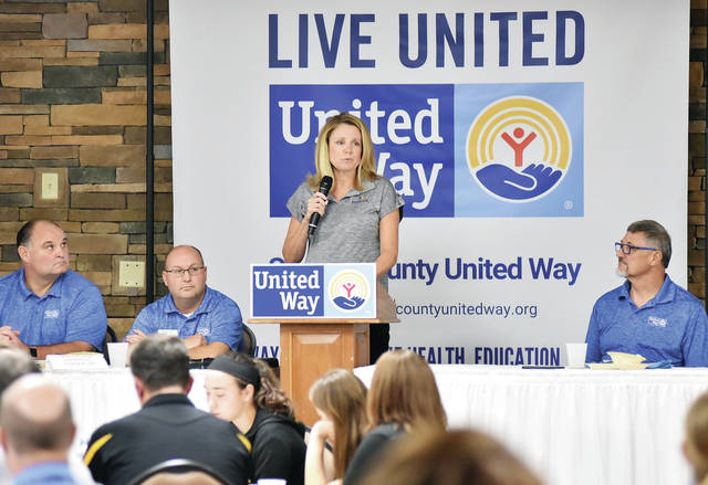 POWER Associate Amy West talks about the United Way program POWER during the Shelby County United Way campaign kick-off Thursday, Sept. 13.