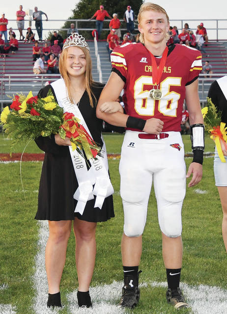 Kelly Naylor, 17, daughter of Jim and Kathy Naylor and Ben Kuck, 18, both of New Bremen, son of Bob and Cheryl Kuck, were crowned homecoming queen and king Friday, Sept. 21.