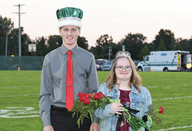 Derek Arling and Courtney Hoehne were crowned Anna homecoming king and queen Friday, Sept. 28. Derek Arling, 18, son of Nick and Yvonne Arling. Arling has participated in band, cross country, track, French Club, school musicals and Industrial Technology Club. Courtney Hoehne, 18, both of Anna, daughter of Joe and Su Hoehne. Hoehne has participated in Eco Warriors, FCCLA, and school musicals. She is involved int 4-H and is on the cheer team at the YMCA.