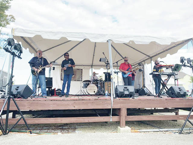 Karmaճ Pawn performs at the second annual Food Truck Rally at the Shelby County Fairgrounds Saturday, Sept. 29.