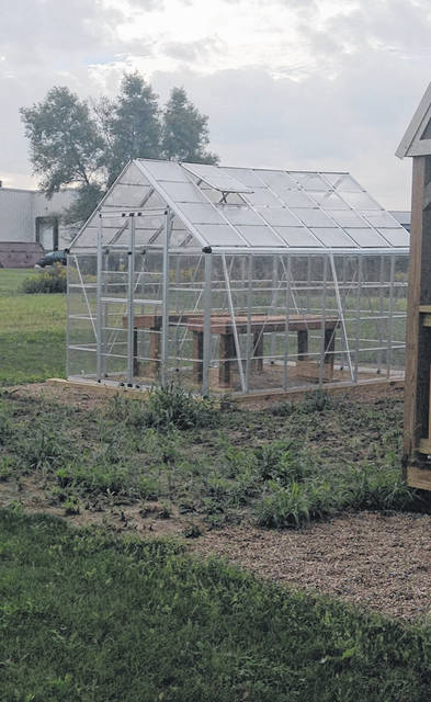 A new greenhouse stands ready for use at Christian Academy Schools in Sidney.
