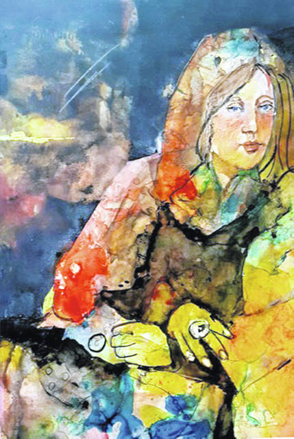 """The Ring"" by Susan Kiedio, of Cleveland, the Gold Award winner of the 2018 Ohio Watercolor Exhibition, will be on display with other exhibit entries from Nov. 3 through December at the Amos Memorial Public Library in downtown Sidney."