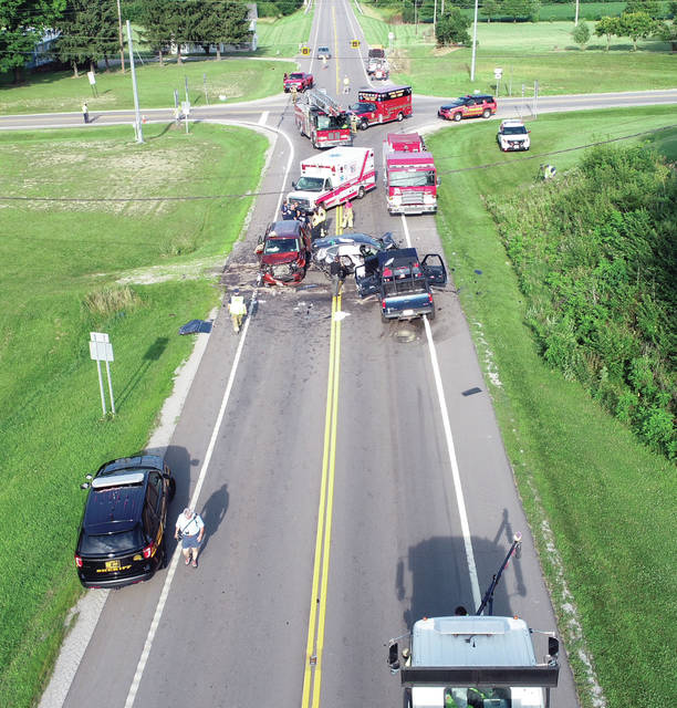 Miami County deputies investigate a fatal crash on state Route 571 near state Route 201, June 30.