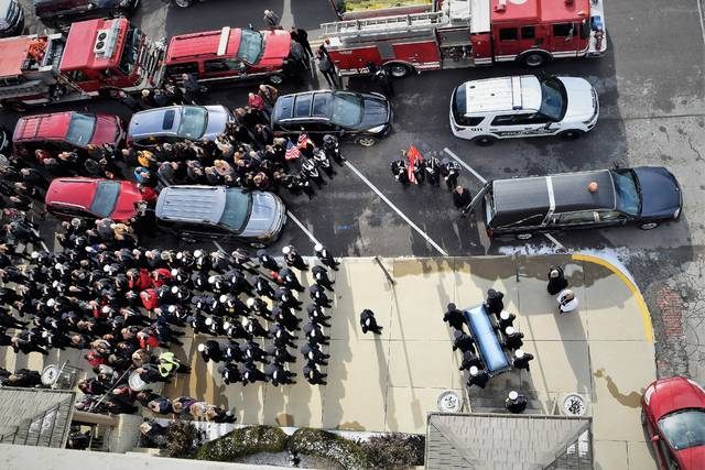 Sidney firefighter Lt. Tony McLain's life was honored Wednesday morning, Nov. 28.