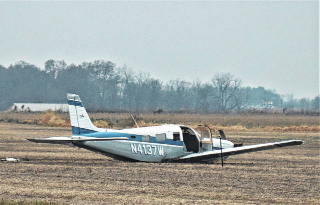 A 1999 Piper Saratoga single engine aircraft, piloted by 77-year-old Charles White of Gallitan, Tennessee, was attempting a landing eastbound on the main runway of the Darke County Airport when the aircraft veered off the the left side and came to rest in a field.