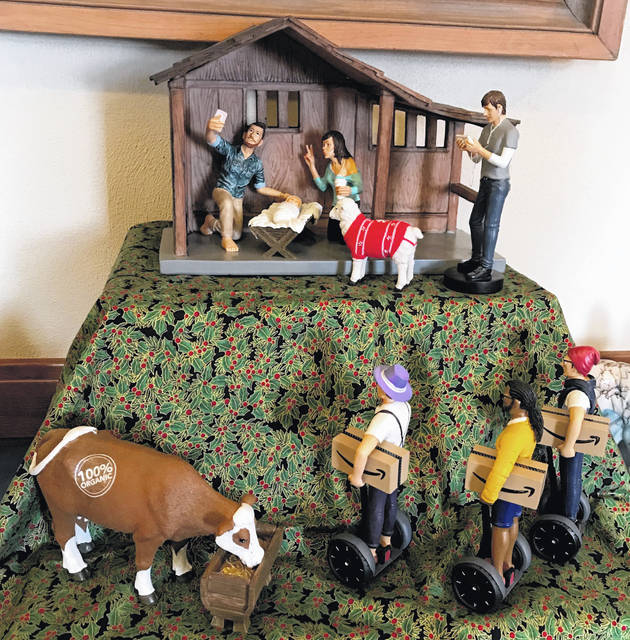 A Nativity exhibit is on display from Dec. 1 to Jan. 7 at the Maria Stein Shrine of the Holy Relicsin Maria Stein.