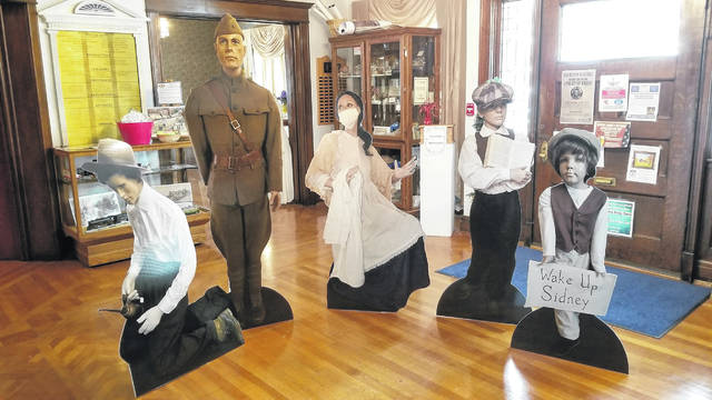 The Shelby County Historical Society's World War I exhibit was displayed locally and at the Ohio State Fair.