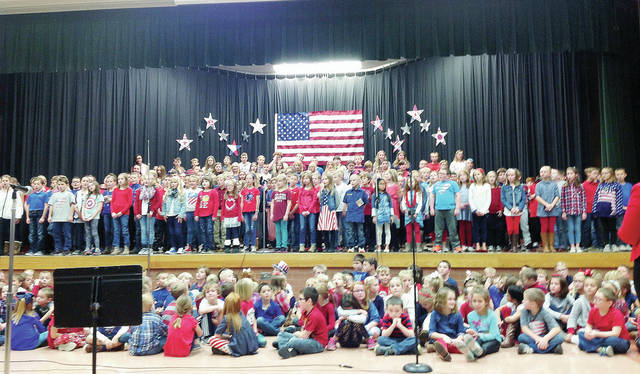Anna Elementary students perform their annual Veterans' Day celebration Thursday, Nov. 8, at the school.