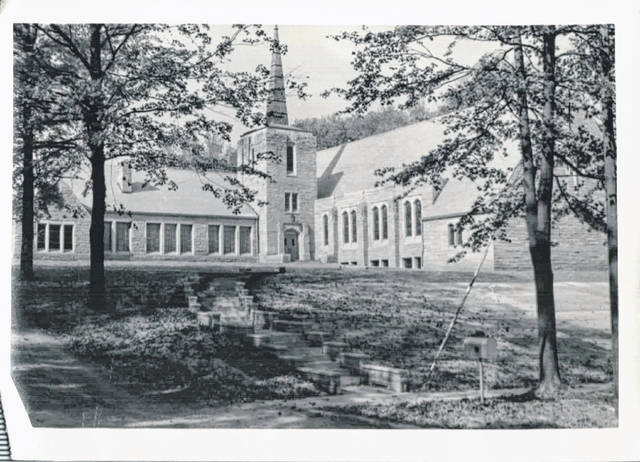 This is a photograph of how St. Paul United Church of Christ appeared in 1955. The church is located at 707 N. Ohio Ave.