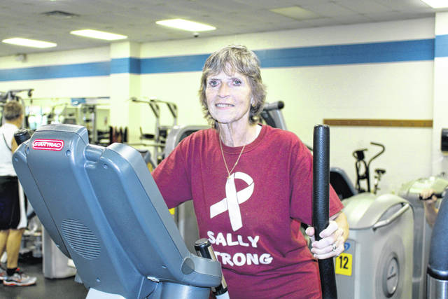 Sally Barker of Sidney, a cancer survivor and Y Group Exercise instructor, works out at the Sidney-Shelby County YMCA. Match Day gifts will benefit LIVESTRONG at the YMCA.