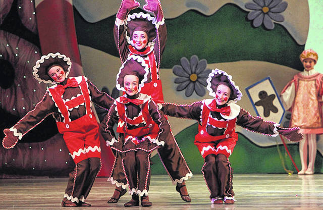 "Ally Blatter, 12, left, appears as a gingerbread cookie in the 2016 production of ""The Nutcracker"" by the Dayton Ballet. She will reprise her role in performances in Dayton this month. She is the daughter of Stephanie Dunkle-Blatter and Scott Blatter, of Sidney."