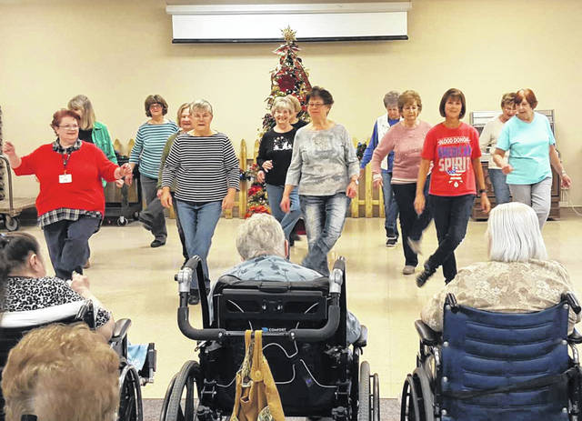 The Steppers of Ohio Living Dorothy Love perform for Dorothy Love residents, recently.