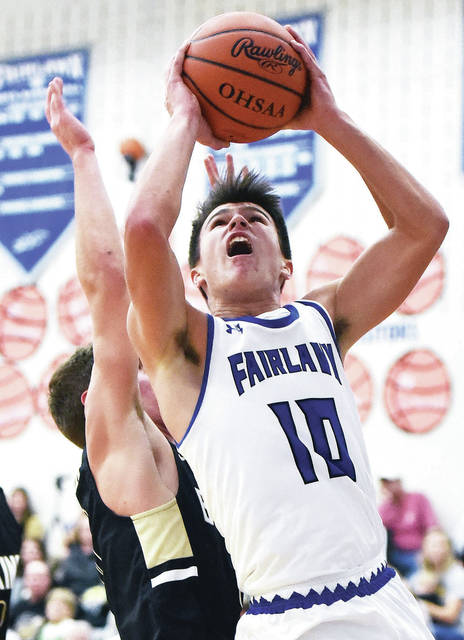 Fairlawn's Skyler Piper shoots during a Shelby County Athletic League game on Tuesday at Fairlawn.