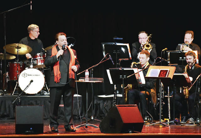 """Steve Lippia performs """"Simply Sinatra Christmas"""" at the Sidney High School Auditorium Sunday, Dec. 2. The performance was brought to Sidney by the Gateway Arts Council and numerous donations."""