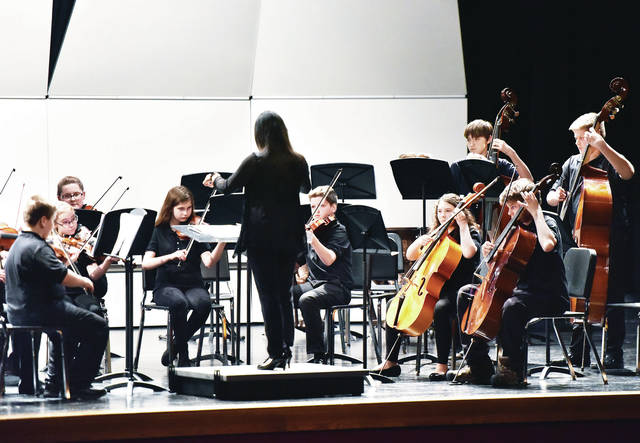 The Sidney seventh-grade orchestra performs at the Sidney High School auditorium, Thursday, Dec. 6. The Sidney sixth-grade, eighth-grade and high school orchestras also performed during the Sidney City Schools Orchestras Winter Concert. The orchestra director is Janet Fu.