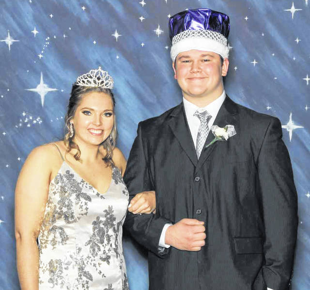 Riley Jackson and George Younker were crowned queen and king during Jackson Center's homecoming ceremony on Friday, Dec. 21.