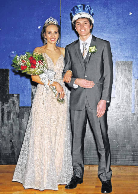 Kaylee Hiatt, daughter of Matt and Denise Hiatt, and Gavin George, son of Chris and Joyce George, were crowned queen and king during Russia's homecoming ceremony on Friday, Jan. 18.