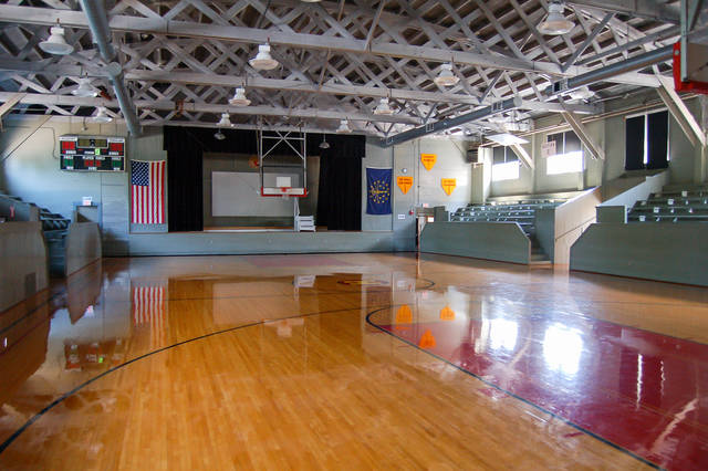 """Fort Loramie will travel to iconic Hoosier Gym in Knightstown, Indiana on Saturday night to play Strasburg-Franklin. The gym was the set used for many scenes in the 1986 film """"Hoosiers."""""""