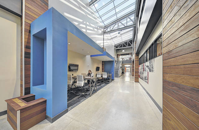 The new corridors at Emerson is part of a four-year renovation and expansion project.