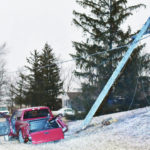 Icy conditions contribute to crash