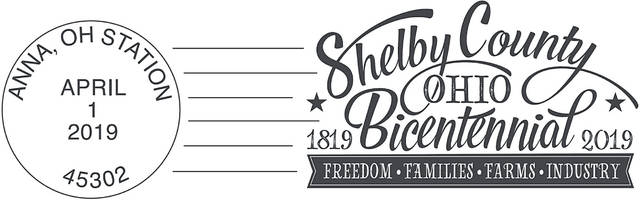 The is the Shelby County Bicentennial postcrad's post mark for Anna.