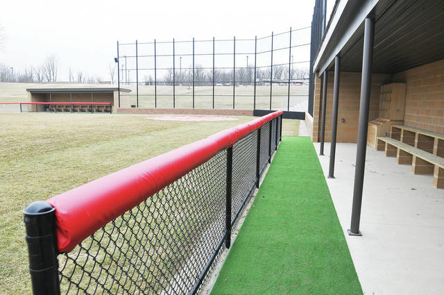 Houston will celebrate renovations done to its baseball complex during a the team's opening day on Saturday, including renovations done to the field and dugouts, seen here on Wednesday. The Wildcats will host Springfield Catholic Central on Saturday in a doubleheader, which will start at 11 a.m. In between games at approximately 1:30 p.m., the school will honor the 1075 team, which won the Shelby County Athletic League title. The renovations recently done to the complex included the construction of new dugouts and a building with restrooms, concessions and a press box. New bleachers and batting cages were also installed, along with a new scoreboard and storage area. The school invites all community members to come out and join the celebration on Saturday.