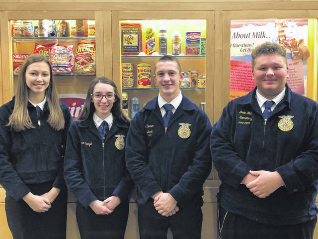 Houston-UVCC FFA Food Science & Technology CDE team placed second in the state; Members are, left to right, Hannah Hollinger, Lena Stangel, Dominic Beaver and Drew Walker.