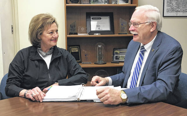 Sidney Tree Board Chair Ann Asher and Mayor Mike Barhorst recently met to discuss the types of trees that are appropriate to be planted within the city.